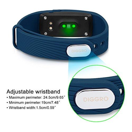 DIGGRO ID107 – Fitness Armband mit Herzfrequenz Sensor (OLED Display, Smart Armband Fitness Tracker mit Pulsmesser Aktivitätstracker Schrittzähler Schlafanalyse Kalorienzähler für ios Android) - 4