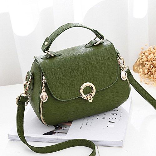 Sprnb Bloccare Le Piccole Fashion Borsetta Borsa Borsa Semplice Tutti-Match Spallamento Lato Poco Bao Baonv,Grigio Chiaro Green