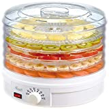 Ultra Zon® Electric Food Dehydrator Preserver Machine with 5 Stackable Tray, Multicolour