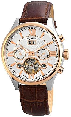 Engelhardt Men's Automatic Watch Silver Brown