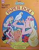 Tropical Barbie Paper Doll Book w Barbie, Ken, Miko & Skipper Dolls & pre-cut Damen (1986Golden)