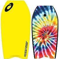 Osprey Unisex su2014Tie Dye Bodyboard con correa, 41inch XPE Junta con cola en forma de media luna, color amarillo