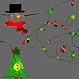 KAMACA Bezaubernde biegsame LED Draht - Lichterkette mit 20 warm weissen LED Lichtern - Micro-Lichterkette mit niedlichen beleuchteten Schneemännern und Tannenbäumen - batteriebetrieben - Gesamtlänge inklusive Zuleitung ca. 220 cm - für den Innen - Bereich geeignet - viele tolle Dekorations-Möglichkeiten für Winter Advent Weihnachten - Neu - aus dem KAMACA-SHOP