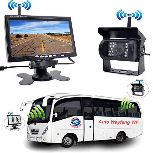 "Auto Wayfeng WF® Wireless Backup Parksystem 7""HD Rückfahrkamera mit IR Nachtsicht Rückfahrkamera für Wohnmobil LKW Trailer Bus"