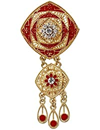 YAZILIND clásico hueco cuadrado flor forma rhinestone broche PIN gota de agua colgante mujer joyas