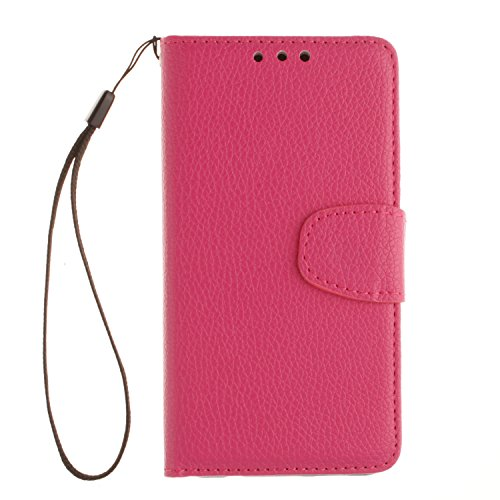 Price comparison product image Samsung Galaxy A3 (2016) A310 Case, Cozy Hut Premium Litchi Pattern Leather Wallet Phone Case [ Protect Screen ] - [Magnetic Closure] - [Card Slot][Flip][Wallet Series] Premium Flip Book Case Style with Stand Feature For Samsung Galaxy A3 (2016) SM- A310F 4.7 Inch - Rose red