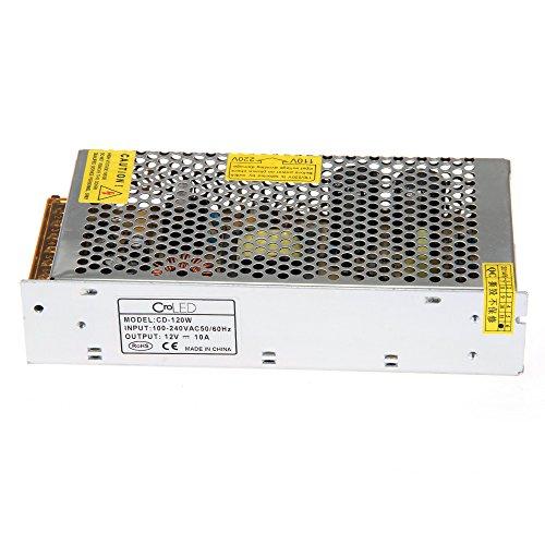 Preisvergleich Produktbild Netzteil stabilisiert für Lichterkette LED 220V 12V 10A 10120W