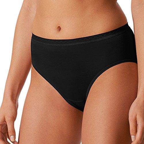 Mey 2er Pack Damen Hüftslips Lights - 89202 - Schwarz - Größe 40 - Damen Hipster ohne Seitennähte - Baumwolle + Viskose