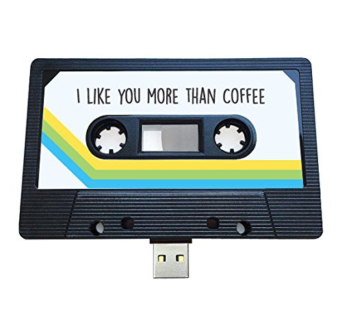 USB auténtico mixtape-retro personalized- Quirky Regalo–amantes de la música, presente, novio, novia, 90s, unidad flash negro 16 gb