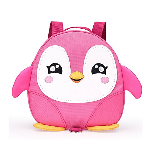 (Pink) - 2017 New Style Cute Cartoon Penguin Mini Backpacks with Safety nylon tape for . Old Baby Toddler Walking Safety Backpack Little Kid Boys Girls Anti-lost Travel Bag (Pink)