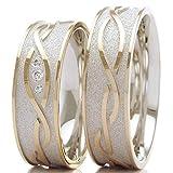 Eheringe 585/- Weißgold Rotgold B-48-05237-38 - Design Ring