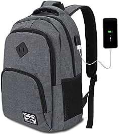 HASAGEI Mochila Portatil 11 Colores con USB Puerto para Escolar Negocio- 35L