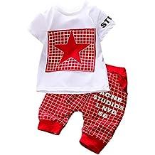 K-youth® Conjuntos Bebé Niño, Ropa Recién Nacidos Bebe Niño Camiseta Mangas Cortas