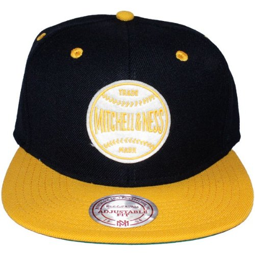 Mitchell & Ness - Casquette Snapback Homme Baseball Logo - Black/Yellow