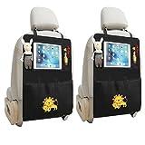 Sagratore - 2organizadores para asiento de coche con bolsillos portaobjetos y espacio para iPad 2Pcs Leone