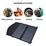 Dailyinshop Sacchetto di ricarica pieghevole USB per pannello solare portatile 5V 2A 12W ad alta efficienza (Colore: nero)
