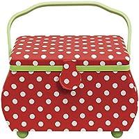 Prym Polka Dots rot/weiß L Nähkorb, Cotton