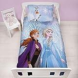 Disney Frozen - Set di Biancheria da Letto e Federa per Bambini, Motivo: Anna e Elsa, 120 x 150 cm