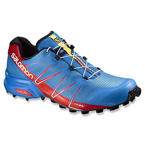 Salomon Herren Speedcross 4 Cs Laufschuhe bright blue-radiant red-black