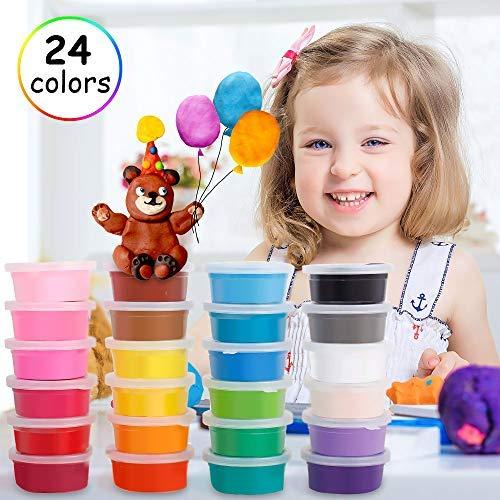 Migimi Springknete, Flummimasse Hüpfknete für Kinder Kinderknete Mitgebsel für Kindergeburtstag Geschenk Knete DIY Handgemachtes Lernen - 24 Farben