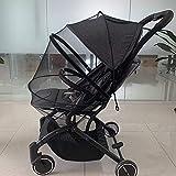 GLXQIJ Universal Kinderwagen Baby Baldachin Schutz Markise Faltbare Einstellbare Schirmmütze Sommer Infant Trolley Kinderwagen Moskitonetz,Black,43 * 100CM