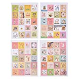 Souarts 80 Stücke Bunt Briefmarke Scrapbooking Deco Set Craft Aufkleber Tagebuch Papier Aufkleber Scrapbooking Geschenk