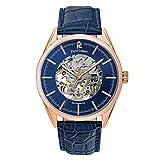Pierre Lannier - 307C066 - Week End Automatique - Montre Homme - Automatique Analogique - Cadran Bleu - Bracelet Cuir Bleu