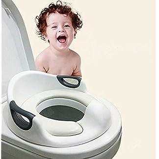 51AF5R5CMQL. SS324  - Asiento de inodoro para niños para niños Niños Niñas Niño Asiento de inodoro para cojín Asiento y respaldo Inodoro Entrenador para inodoros redondos y ovalados