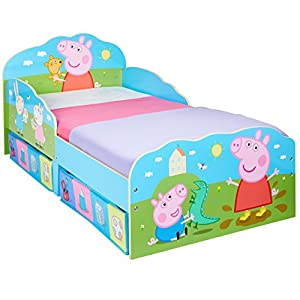 Hello Home Peppa Pig Toddler Bed with Underbed Storage, Wood