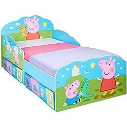 Hello Home Peppa Pig–Cama Infantil con cajones, Madera, Rosa, 142x 77x 63cm