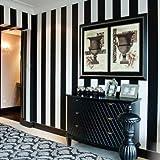 Modernes schlichtes Schwarz und Weiß Vertikal gestreift Tapete Hotel Zimmer Dedicated Kleidung STORE PVC Tapete, eine