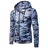 MRULIC Herren Sport Fitness Crewneck Modern Sweatshirt Langarmshirt Hoodie Warm Basic Streetwear RH-015(Blau,EU-50/CN-2XL)