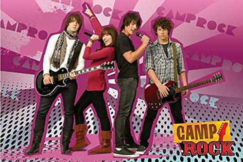 Camp Rock - Jonas Brothers - Group - Filmposter Kino Movie TV-Serie Musik - Grösse 91,5x61 cm + 2 St. Posterleisten Holz 91 cm