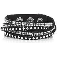 Jon Richard Women's Black Studded Wrap Around Cuff Bracelet DnvNPB2vpE