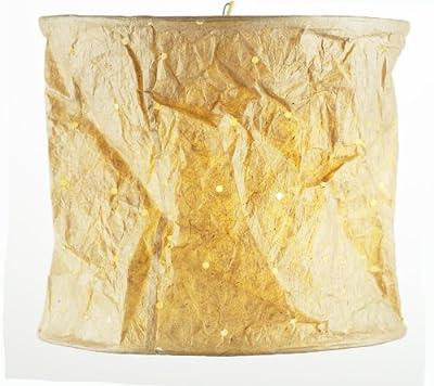 Hängelampenschirm aus handgeschöpftem Loktapapier in beige, ca 28 x 25 cm