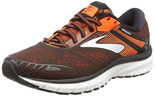 Brooks Adrenaline GTS 18, Scarpe da Running Uomo, Blu (Black/Orange/Ebony 047), 42.5 EU