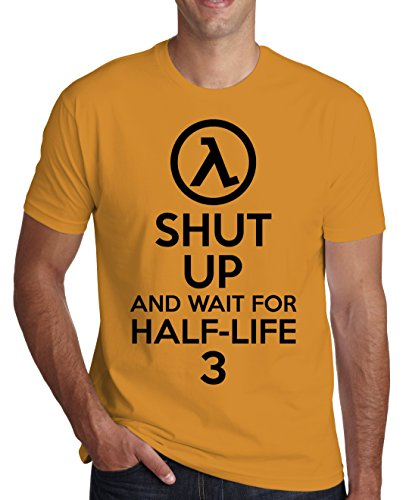 Shut Up And Wait For Half-Life 3 Men's T-Shirt Large