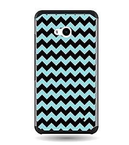 Fiobs Designer Back Case Cover for Microsoft Lumia 640 LTE (Colorful Patterns Designs Black Zig Zag)