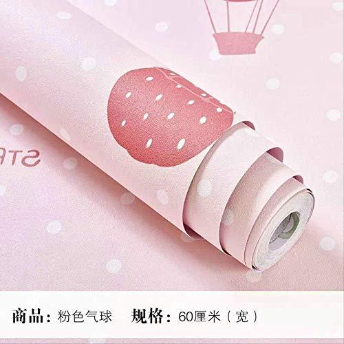 stklebende Tapete rosa Kind Aufkleber College Schlafsaal Schlafzimmer warm selbstklebende Tapete Hintergrundpapierrosa Ballon