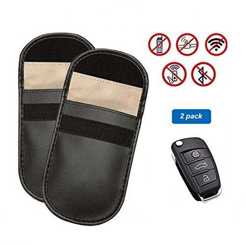Preisvergleich Produktbild Keyless Go Schutz Autoschlüssel, Umydeal Strahlenschutz Tasche - Auto Signal Keyless Schlüsseletui Funkschlüssel Abschirmung - RFID Key Safe Strahlenschutz Tasche (2 Packung)