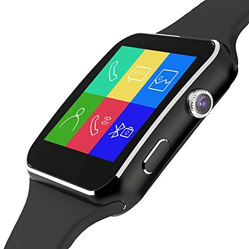 Noise Edge (Black) Bluetooth Smart Watch Wrist Watch Phone with Camera & SIM Card Support Hot Fashion New Arrival Best Selling Premium Quality Lowest Price with Apps like Facebook, Whatsapp, WeChat, Twitter, Time Schedule, Read Message or News, Sports, Health, Pedometer, Sedentary Remind & Sleep Monitoring, HD IPS Display, Dual Interface, Varied themes, Loud Speaker, Microphone, Touch Screen, Multi-Language, Compatible with Android Smartphone, Samsung, Sony, LG, HTC, Huawei, ZTE, Oppo, Xiaomi