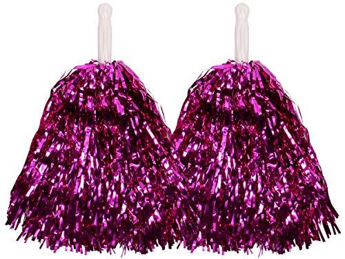 Alsino Metallic Schimmer Pompom 1 Paar Cheerleader, Farbe ()