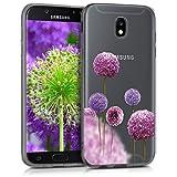 kwmobile Samsung Galaxy J7 (2017) DUOS Hülle - Handyhülle für Samsung Galaxy J7 (2017) DUOS - Handy Case in Pink Violett Transparent