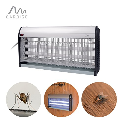 Gardigo 62403 - jumbo zanzariera elettrica interno e esterno; lampada insetticida ammazza zanzare luce uv ultravioletta; trappola per insetti
