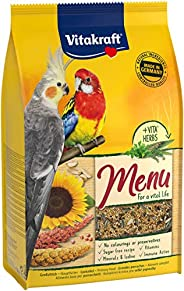 Vitakraft 21427 Menu Daily Food for Nymphs and Large Parrots, 3 kg