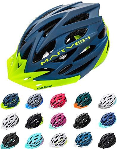 erren Damen Kinder-Helm rollerhelm mädchen kinderfahrradhelm rennradhelm Mountainbike Inliner skaterhelm fahradhelm Scooter Jungen Bike Helmet (S (52-56cm), Marineblau Grün) ()