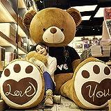 KAWAYI Ours Jouet Enfant Grand Nounours Géant Ours en Peluche Teddy Bear Cadeau d'anniversaire Décor pour la Chambre,A,2m