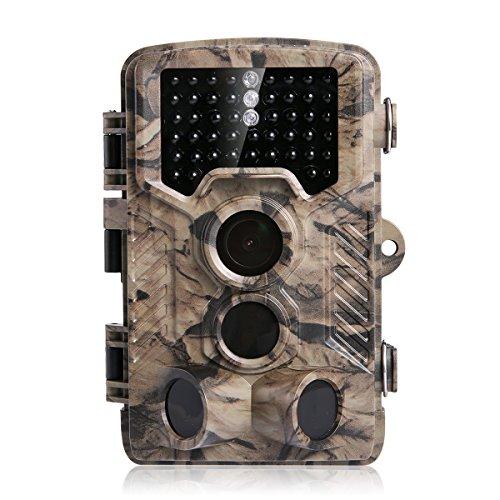 Wildkamera, Distianert 16MP 1080P HD Jagdkamera 46 St. 940nm No-Glow Schwarze Infrarot-LEDs, 2.4' LCD Display, 125° 24m Erkennungsreichweite Geeignet für Sicherheitsüberwachung/Beobachtung der Tierwelt/Tierjagd