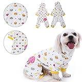 WIDEN Haustier Hund Katze Kapuzen-Baumwoll-Pyjamas Overall mit buntem Pilz-Muster