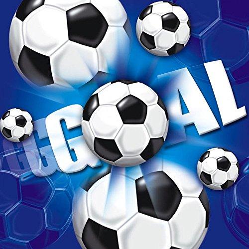 vietten Fußball, circa 33 x 33 cm, Blau (20-er Pack) (Pack Fußbälle)